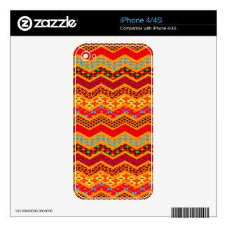 Naranja del color de los diseños geométricos de calcomanía para iPhone 4