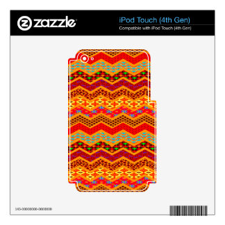Naranja del color de los diseños geométricos de calcomanías para iPod touch 4G
