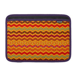 Naranja del color de los diseños geométricos de funda  MacBook
