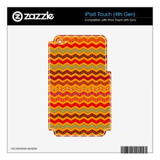 Naranja del color de los diseños geométricos de iPod touch 4G calcomanía