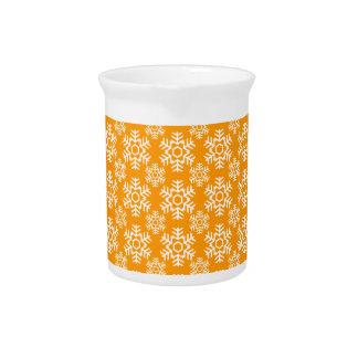 Naranja del copo de nieve 6 jarras para bebida