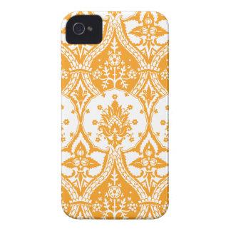 Naranja del damasco de la piña iPhone 4 Case-Mate cárcasa