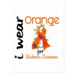 Naranja del desgaste de la leucemia I para la conc Tarjetas Postales