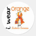 Naranja del desgaste de la leucemia I para la Etiqueta Redonda