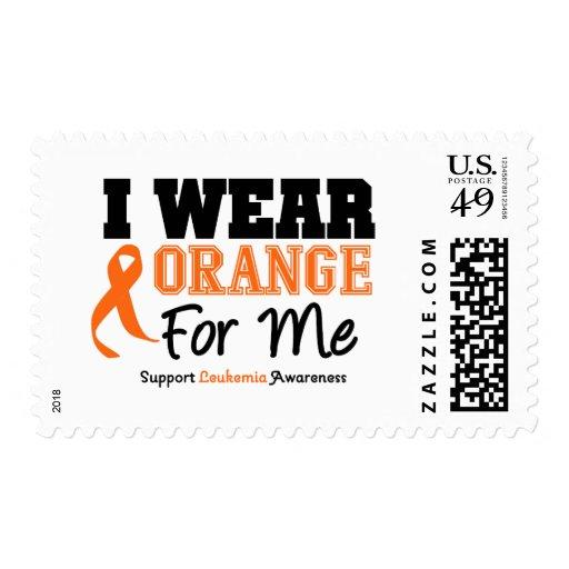 Naranja del desgaste de la leucemia I para mí