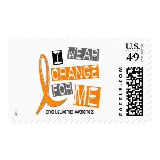 Naranja del desgaste de la leucemia I para MÍ 37 Sello