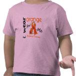 Naranja del desgaste de la leucemia I para MÍ 43 Camiseta