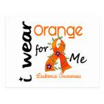 Naranja del desgaste de la leucemia I para MÍ 43 Postal