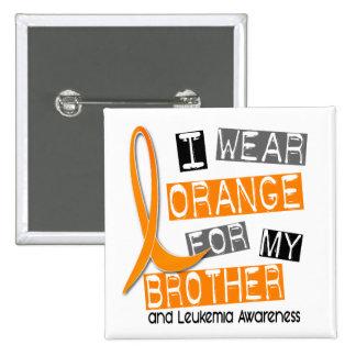 Naranja del desgaste de la leucemia I para mi Brot Pins