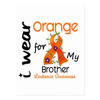 Naranja del desgaste de la leucemia I para mi Brot Tarjeta Postal