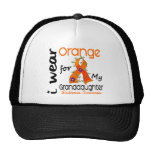 Naranja del desgaste de la leucemia I para mi Gorro De Camionero