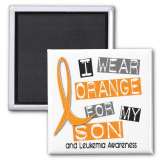 Naranja del desgaste de la leucemia I para mi hijo Imán Cuadrado