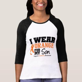 Naranja del desgaste de la leucemia I para mi hijo Tee Shirt