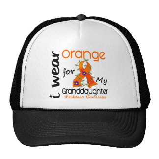 Naranja del desgaste de la leucemia I para mi niet Gorro De Camionero