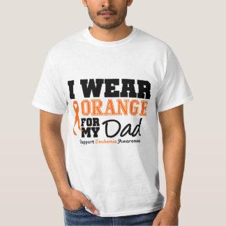 Naranja del desgaste de la leucemia I para mi papá Poleras