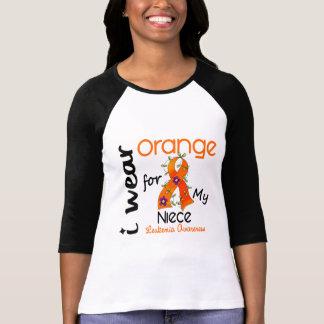 Naranja del desgaste de la leucemia I para mi Playera