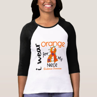 Naranja del desgaste de la leucemia I para mi sobr Camisetas