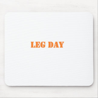 naranja del día de la pierna tapete de raton