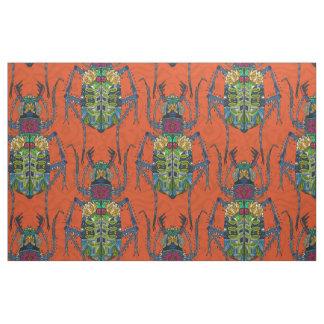 naranja del escarabajo de la flor telas