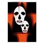 Naranja del feliz Halloween o Dia de Las Brujas Tarjeta De Felicitación