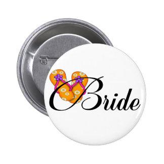 Naranja del flip-flop de la novia pins