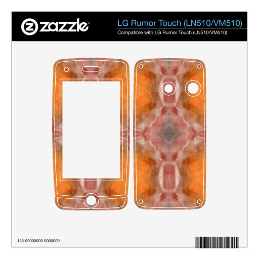 Naranja del fractal calcomanía para LG rumor touch
