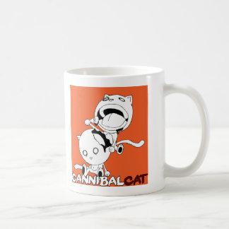 Naranja del gato del caníbal taza
