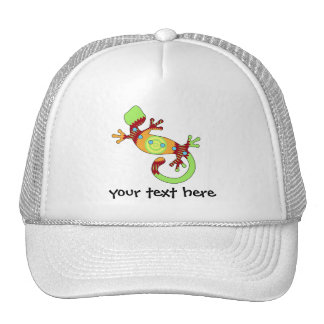 naranja del gecko del estallido gorras