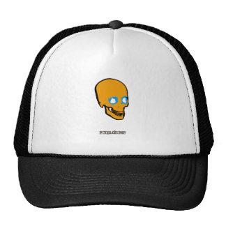 Naranja del gráfico del cráneo gorras