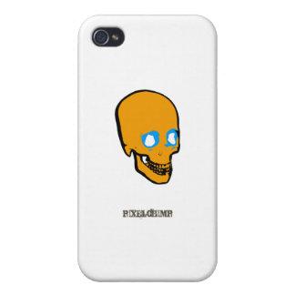 Naranja del gráfico del cráneo iPhone 4 carcasas