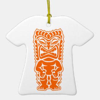 naranja del guerrero del tótem del tiki ornamento para reyes magos