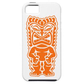 naranja del guerrero del tótem del tiki iPhone 5 Case-Mate coberturas