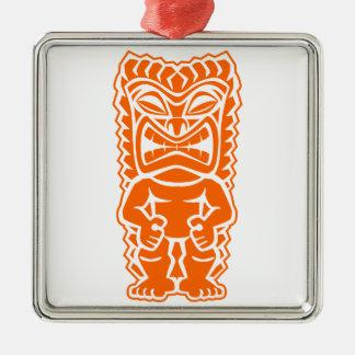 naranja del guerrero del tótem del tiki ornato
