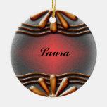 Naranja del letrero ornamento para arbol de navidad