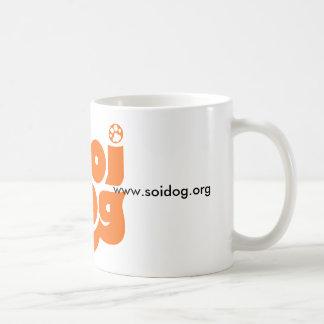 Naranja del logotipo de la fundación del perro de taza