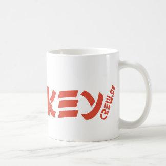Naranja del logotipo de la taza de MonkeyCrew