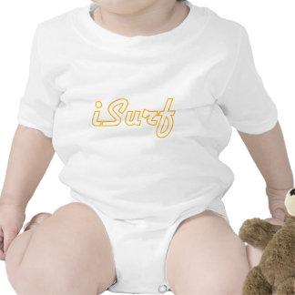 naranja del logotipo del iSurf Trajes De Bebé