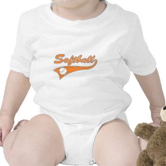 naranja del logotipo del texto de la escritura del traje de bebé