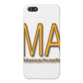 Naranja del mA Massachusetts iPhone 5 Carcasa