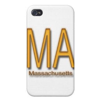 Naranja del mA Massachusetts iPhone 4 Protectores