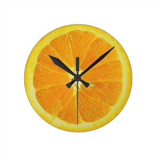 Naranja del mecanismo reloj redondo mediano
