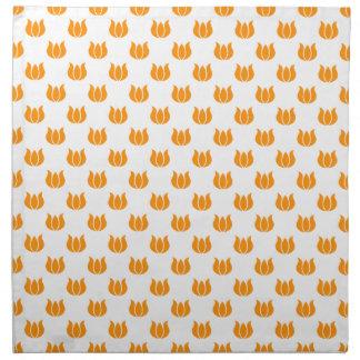 Naranja del modelo de la flor 5 servilletas de papel