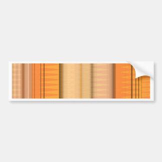 Naranja del modelo de zigzag por Tutti Pegatina Para Auto