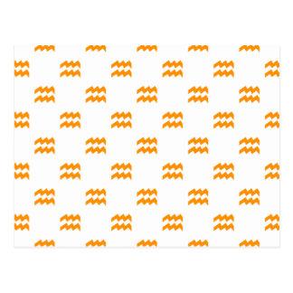 Naranja del modelo del acuario postales