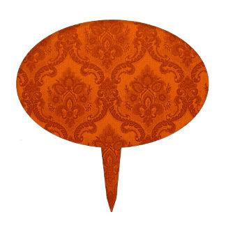 Naranja del modelo del papel pintado del vintage decoraciones para tartas