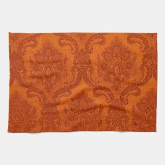 Naranja del modelo del papel pintado del vintage toallas