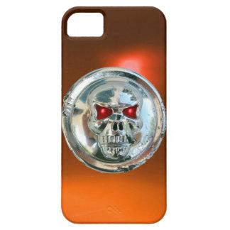 Naranja del MONOGRAMA de los JINETES del CRÁNEO iPhone 5 Carcasas