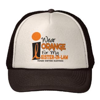 Naranja del ms de la esclerosis múltiple para mi c gorras de camionero