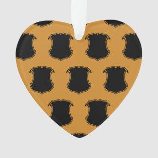 Naranja del negro del escudo del escudo