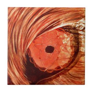 Naranja del ojo del lobo azulejo cuadrado pequeño